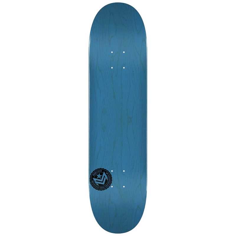 "Chevron Stamp 2 Shape 244 8.5"" Skateboard Deck Blue"