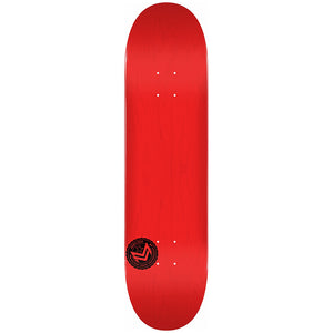 "Chevron Stamp 2 Shape 244 8.5"" Skateboard Deck Red"
