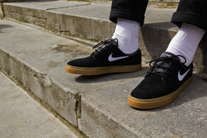 Zoom Stefan Janoski Black/White Gum Light Brown