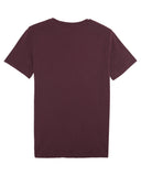 Script heather grape red t-shirt