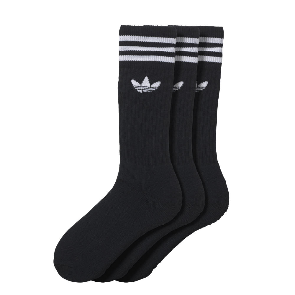 Solid Crew Sock Black
