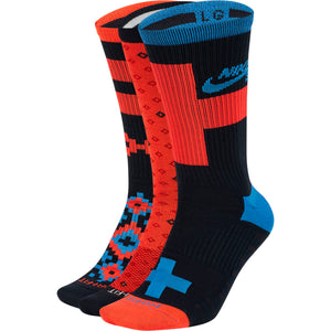 Everyday Max Lightweight Skate Crew Socks 3pack Multi-color Red/Blue