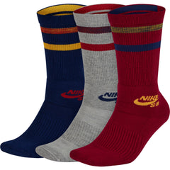 ELITE SKATE 2.0 CREW SOCK Dark Grey Heather/Anthracite/Anthracite