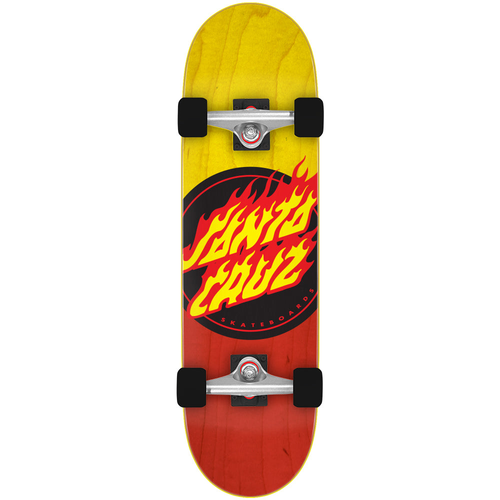 Flame Dot Popsicle Cruzer Red Yellow Complete Skateboard 9.0""
