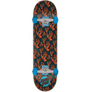 "Hands Allover Black-Red 7.5"" Complete Skateboard"