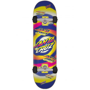 Hypno Dot yellow-purple complete skateboard 7.25""