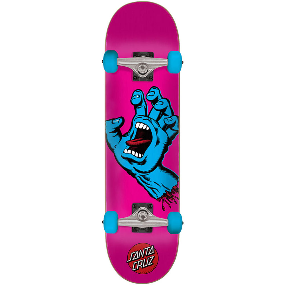 "Screaming Hand Pink-Blue 6.75"" Complete Skateboard"