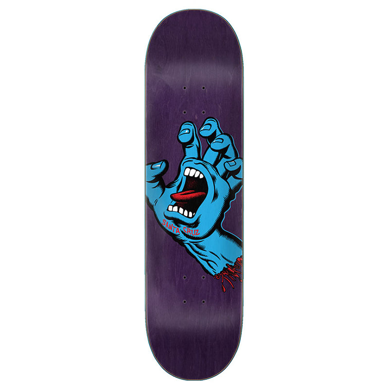 "Screaming Hand Purple 8.375"" Skateboard Deck"