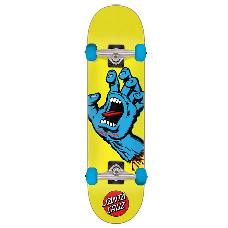 "Screaming Hand Yellow 7.75"" Complete Skateboard"