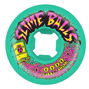 Slime Balls Toxic Terror Speed Balls 99a Green 56mm Skateboard Wheels