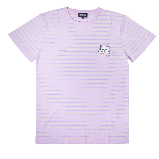 Peek A Nermal Knit Tee Lavender/ Lime