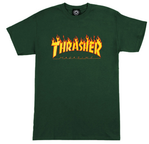 Flame T-shirt Forest Green