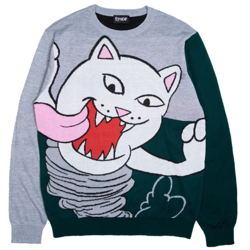 Nermanian Devil Sweater Heather/ Green
