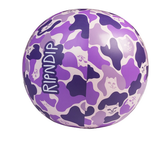 Camo Beach Ball Purple