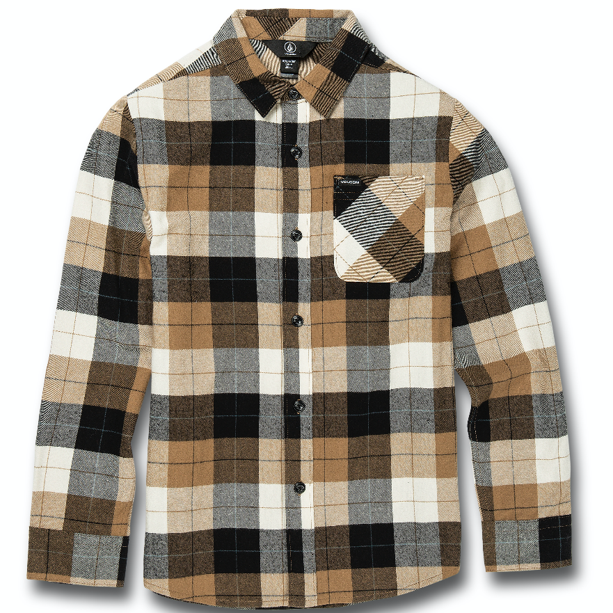Kids Caden Plaid Longsleeve Shirt Black