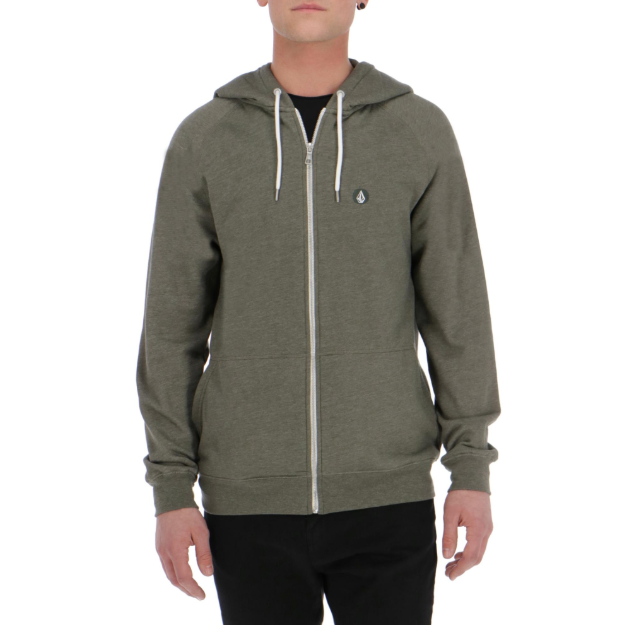 Timesoft Heather Zip Pullover Army