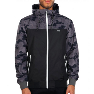 Auf Deck Jacket Camou Black