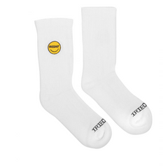 Kids Full Stone Socks White