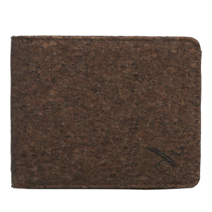 Cork Flag Wallet Dark Brown