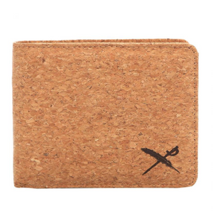 Cork Flag Wallet Light Brown