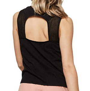 Womens Nolita Mesh Tanktop Black Out