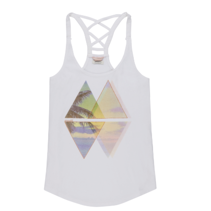 Womens Sunset Tanktop Powder White