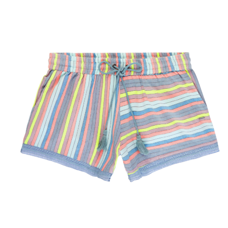 Womens Rockaway Park Shorts Green/ Pink- Purple