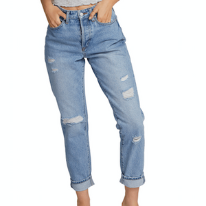Womens Super Stoned Skinny Matured Blue