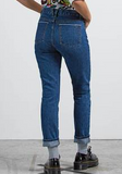 Womens Super Stoned Skinny Used Blue