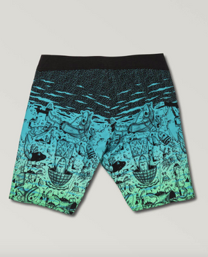 "Pangeaseed mod Boardshort 20"" Blue Bird"