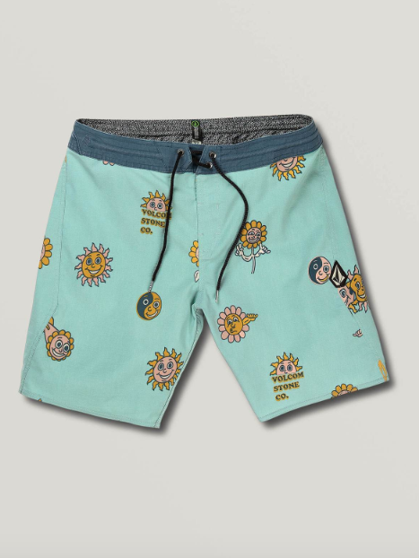 "Kooks Stoney Boardshort 19"" Sea Glass"