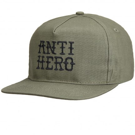 Flash Hero embossed snapback cap army