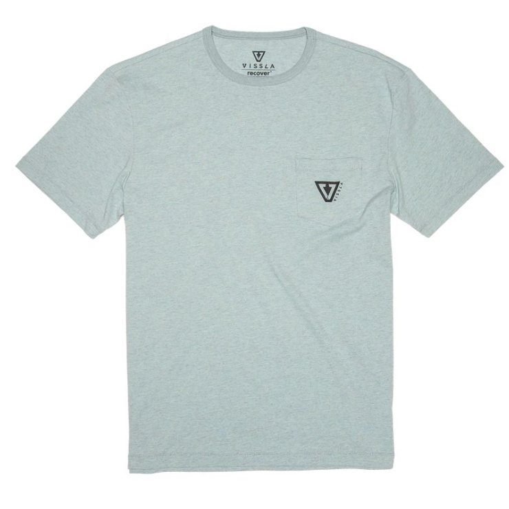 Established Upcycled Tee Jade Mist Heather