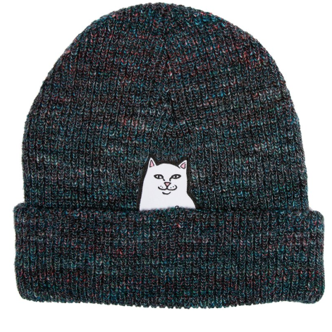 Lord Nermal Ribbed Beanie Blue Speckle