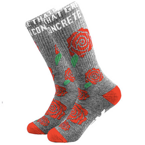 Bloom Crew Sock Heather Grey