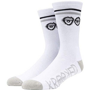 Big Eyes Socks White