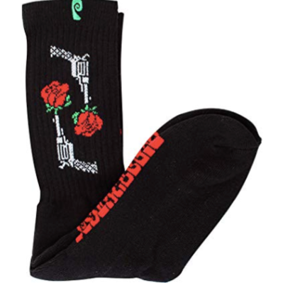 Rose Socks Black