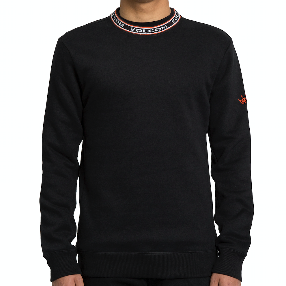 Forward To Past Crew Sweater Black