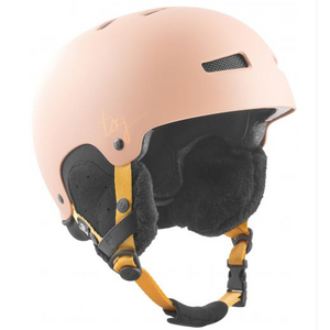 Womens Lotus Solid Color Helmet Satin Dark Peach