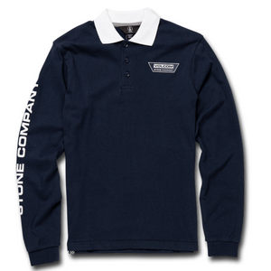 Youth Belmont Polo Longsleeve Navy