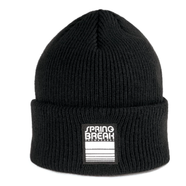 Spring Break Beanie Black