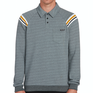 CJ Collins Vpolo Crew Sweater Cool Blue