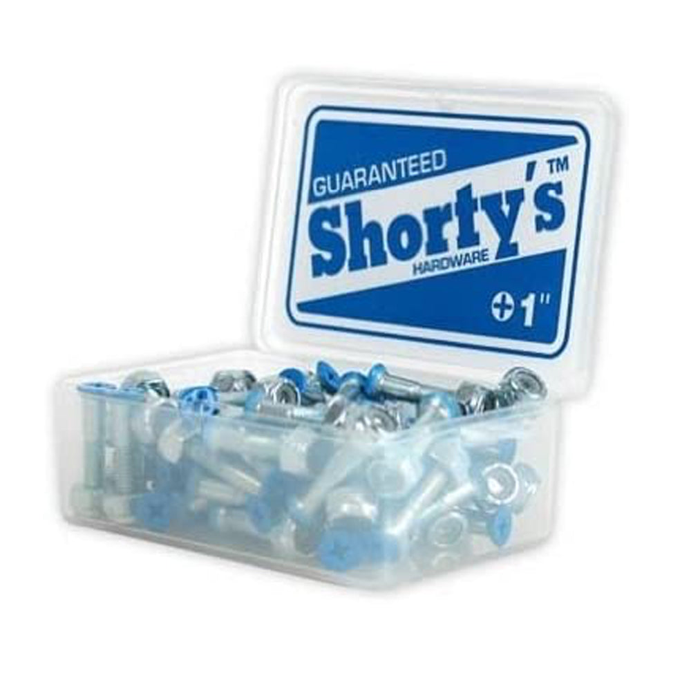 "Skateboard Hardware  Blue color tips Phillips 1"" set"