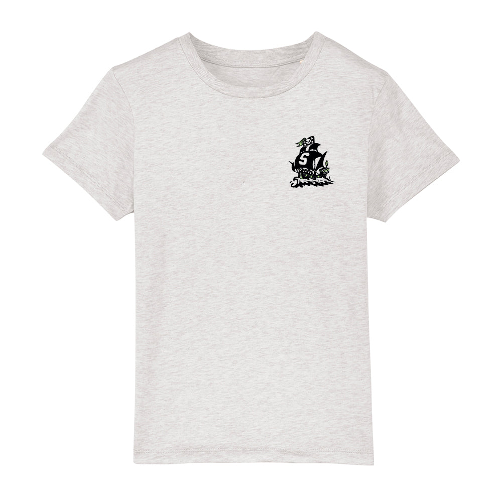 Kids Seaman Psyched Tee Heather Ash