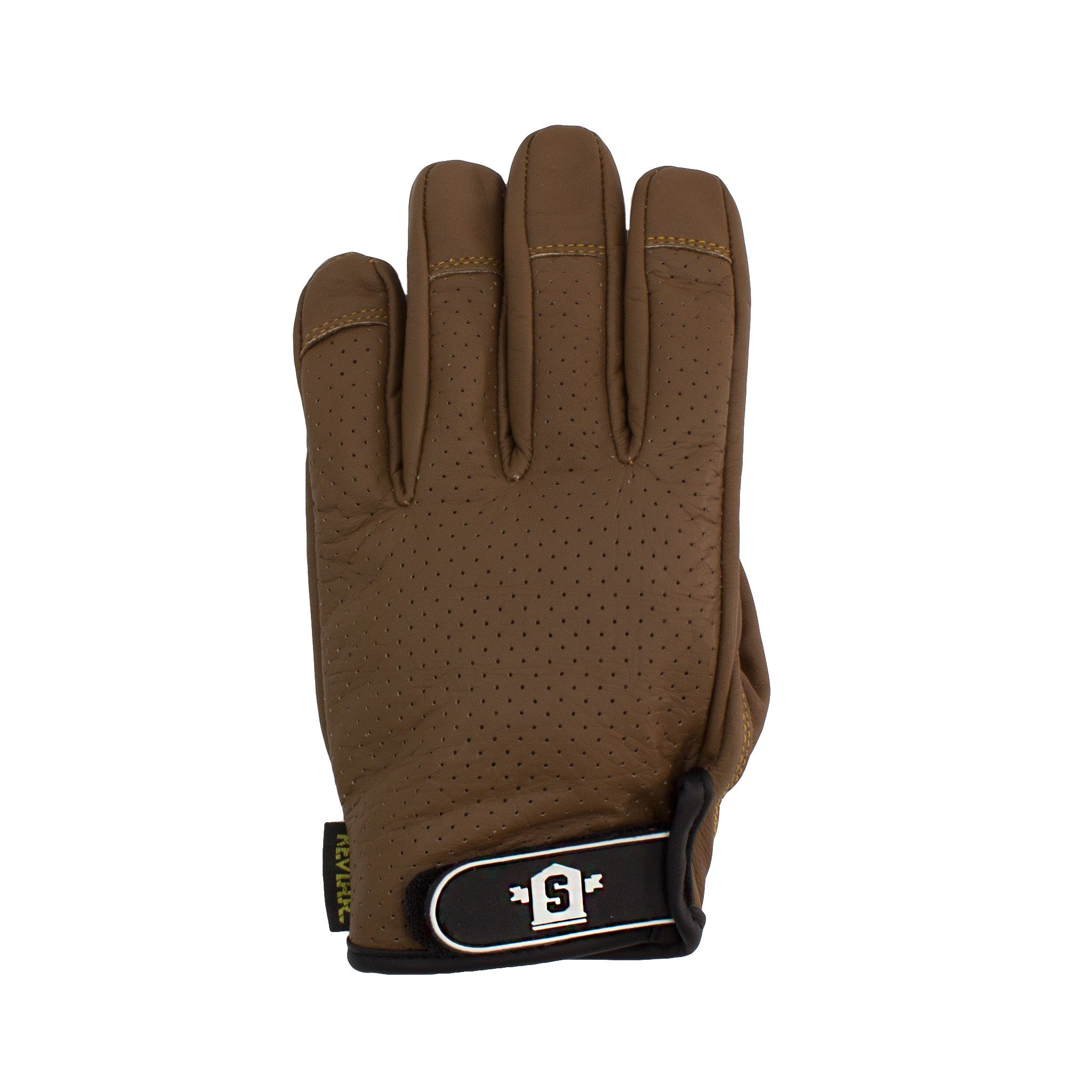 Lederen Slide Gloves Brown - Stoked Boardshop  - 2