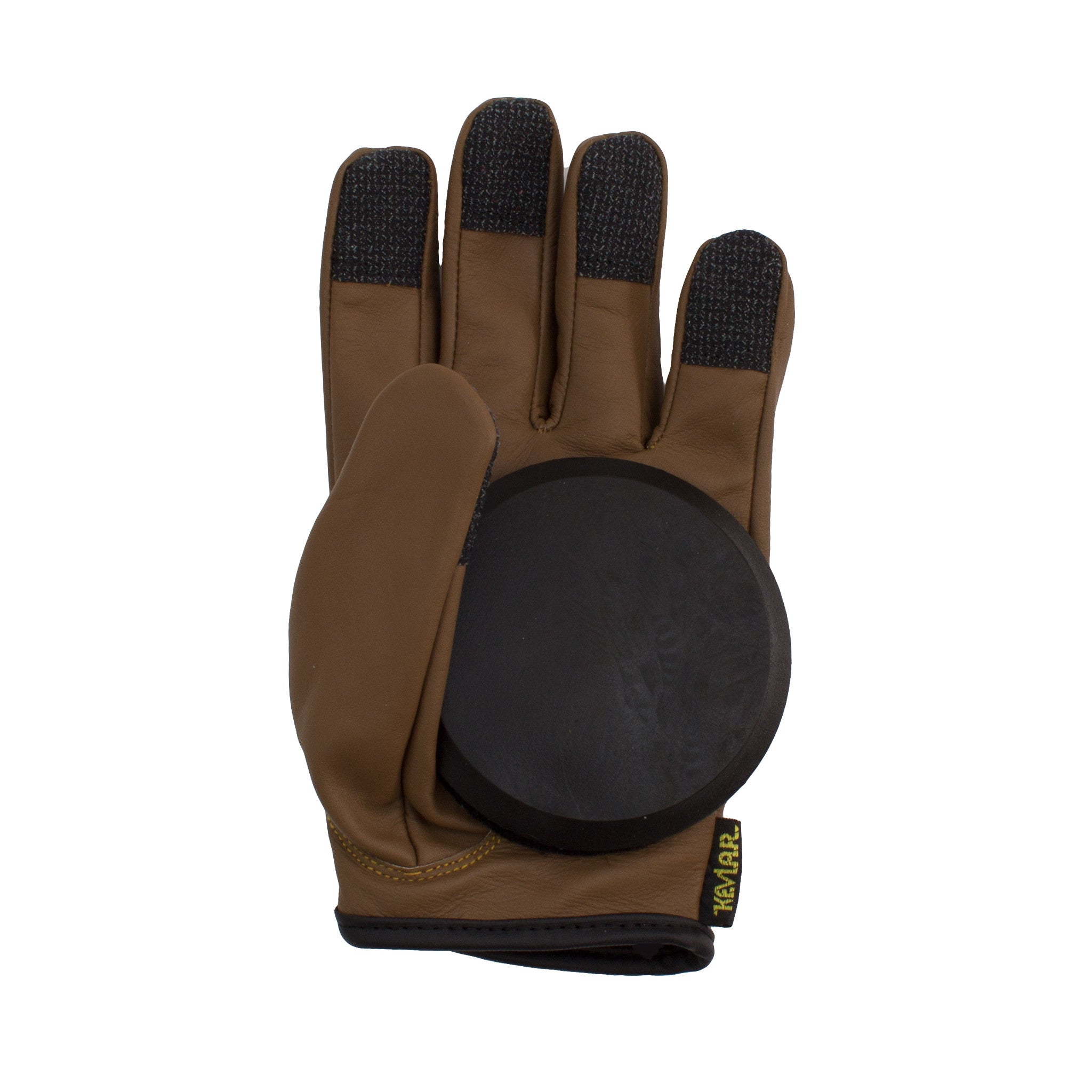 Lederen Slide Gloves Brown - Stoked Boardshop  - 3