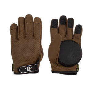 Lederen Slide Gloves Brown - Stoked Boardshop  - 1