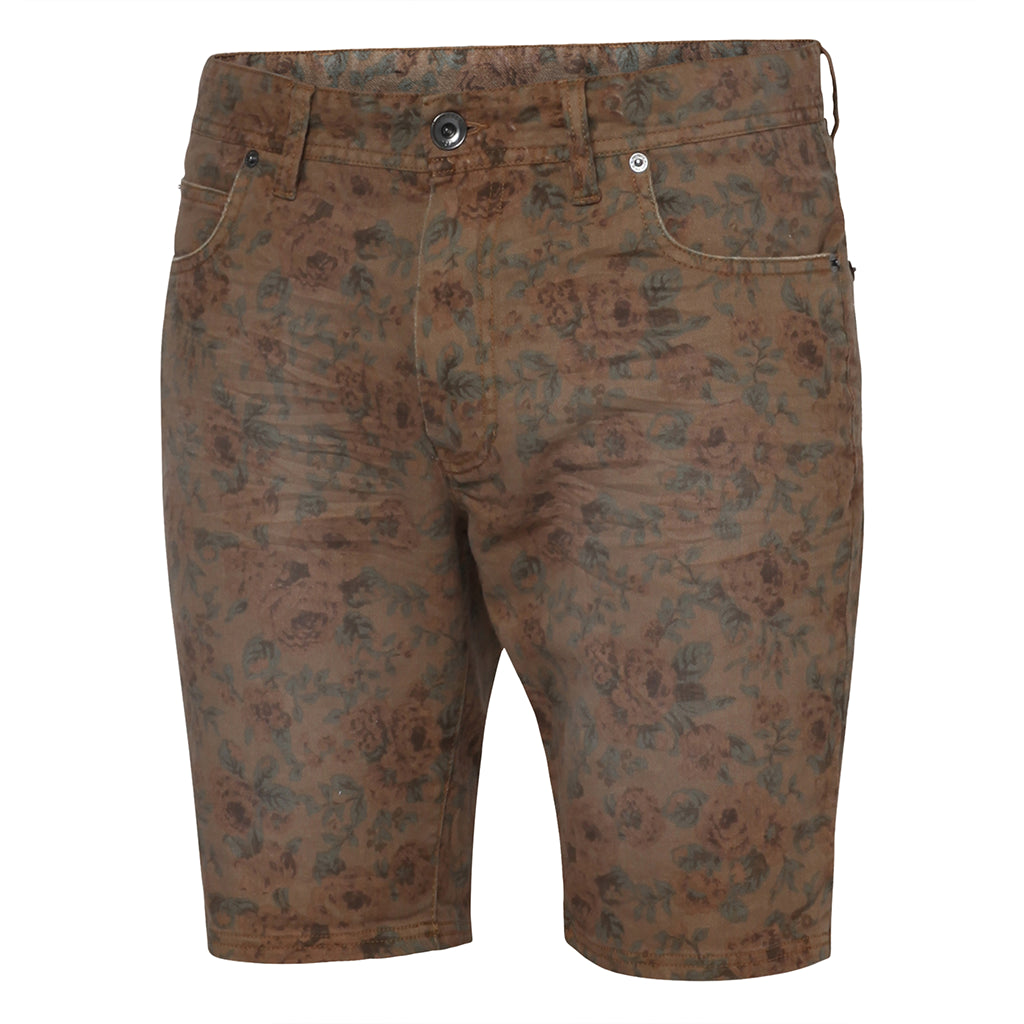 Stringer Pattern Walkshorts Brown AOP - Stoked Boardshop  - 1