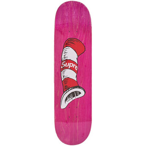 Supreme Cat In the hat pink Skateboard 8.25""