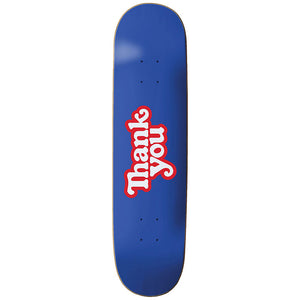 "Thank You 8.25"" Skateboard Deck Blue"